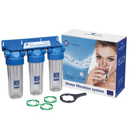 Aquafilter FHPRCL-B-TRIPLE тройной магистральный фильтр