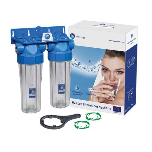Aquafilter FHPRCL-B-TWIN двойной магистральный фильтр